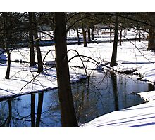 Streaming through the snow Photographic Print