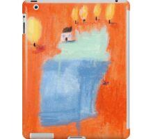 Orange blossoms lakeside cottage. iPad Case/Skin