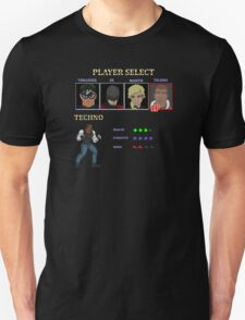 Retro Outlawed Justice Player Select - Techno Unisex T-Shirt