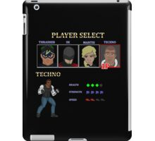 Retro Outlawed Justice Player Select - Techno iPad Case/Skin