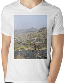 a desolate Cape Verde landscape Mens V-Neck T-Shirt