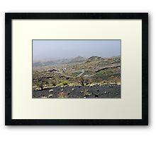 a desolate Cape Verde landscape Framed Print
