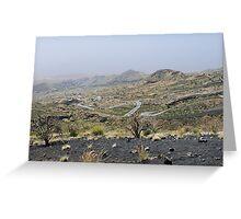 a desolate Cape Verde landscape Greeting Card