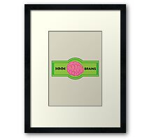 MMM Brains Framed Print