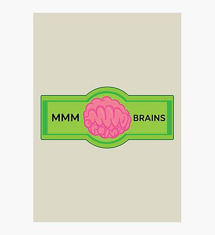 MMM Brains Photographic Print