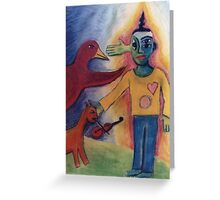 Siddhartha's Journey Into The Netherworld Greeting Card