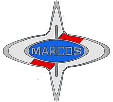 Marcos Car Badge, Colour fill, Black Outline by Adamasage