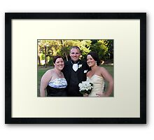 Anne, Brett and Kelly Framed Print