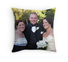 Anne, Brett and Kelly Throw Pillow