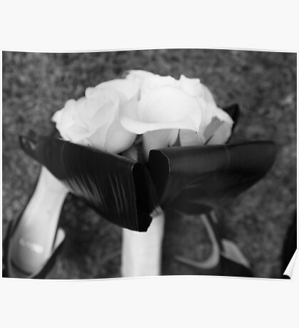 The Bouquet (B/W) Poster