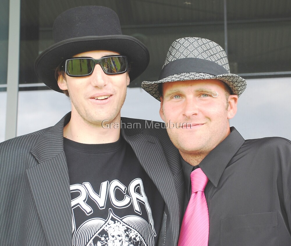 Cool dudes at the races by Graham Mewburn