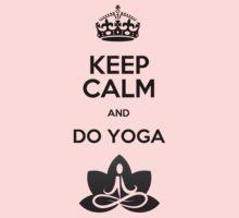 Keep Calm and do Yoga (Black) Kids Clothes