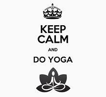 Keep Calm and do Yoga (Black) Womens Fitted T-Shirt