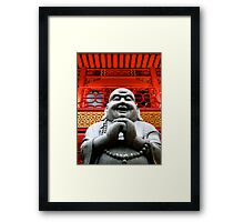 Happy Buddha Framed Print