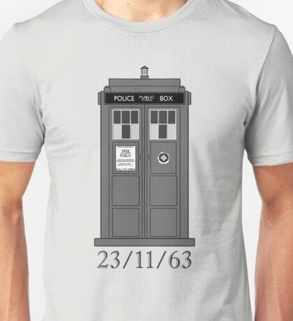 Classic Who Police Box. Unisex T-Shirt