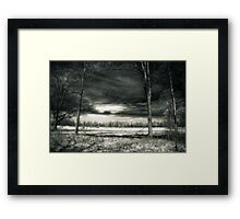 Storm Clouds At The Kitty Todd Nature Preserve  Framed Print