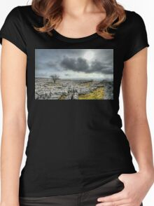 Lonely Tree - Ingleton, North Yorkshire Women's Fitted Scoop T-Shirt