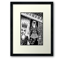 Rocking To Those Block Heavy Beats Framed Print
