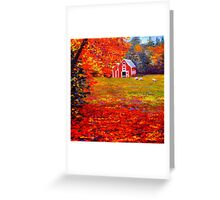 New England Sheep Barn Greeting Card