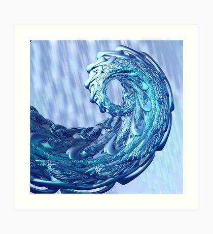 Last wave a shore Art Print