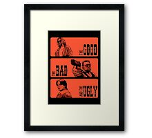 The Dude, The Bad And The Ugly Framed Print