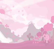 Pinky Elefante in The Land of Pink™ by NarrWare