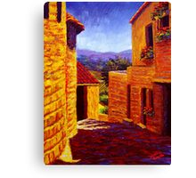 Countryside View in Gordes Canvas Print