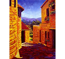 Countryside View in Gordes Photographic Print