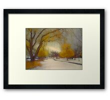 Skaha Path in Winter Framed Print