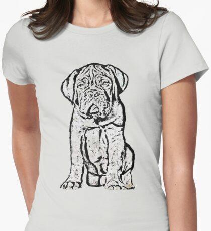 Dogue De Bordeaux Puppy Womens Fitted T-Shirt