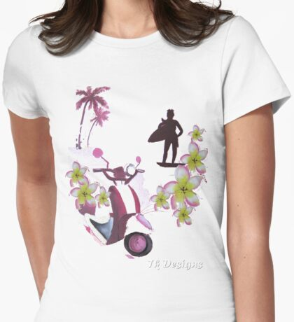 """"""" Surfie Chic""""   Endless Summer Series Womens Fitted T-Shirt"""