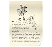 English Fairy Tales by Flora Annie Webster Steel art Arthur Rackham 1922 0130 On His Way to Be Revenged Poster
