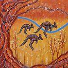 Kangaroos in the Valley by Lesley George