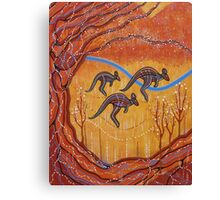 Kangaroos in the Valley Canvas Print