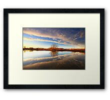 Split The Cloud Framed Print