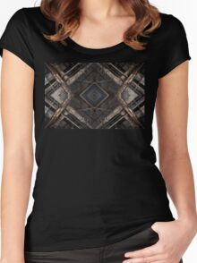 Urban Abstract Women's Fitted Scoop T-Shirt