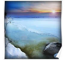 Utah Lake - Iced Over Poster