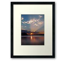Spot Light on St Georges Basin Framed Print