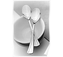Soup bowls and spoons Poster
