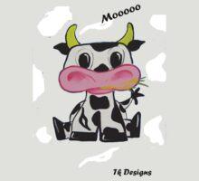 """Cow"" Kids Art Series by Taniakay"
