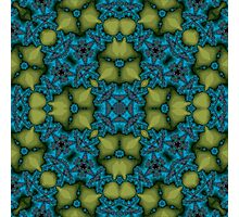 Abstract Pattern blue yellow Photographic Print