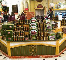 London. Harrod's Food Halls. Candy Boxes Stand. Great Britain 2009 by Igor Pozdnyakov