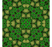 Abstract Pattern green yellow Photographic Print