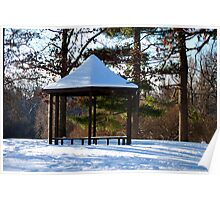 Gazebo in the Winter  Poster