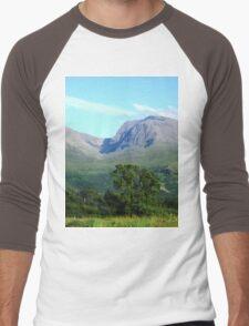 a stunning United Kingdom landscape Men's Baseball ¾ T-Shirt
