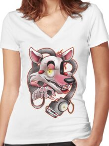 Five Nights at Freddy's - Mangle Women's Fitted V-Neck T-Shirt
