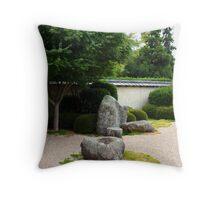 Traditional Japanese Garden Throw Pillow