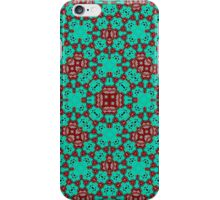 Green red pattern iPhone Case/Skin