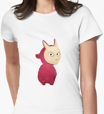 Funny cartoon goat Womens Fitted T-Shirt