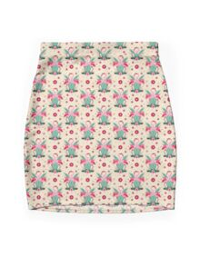 LOVE & FLAMINGO  Mini Skirt